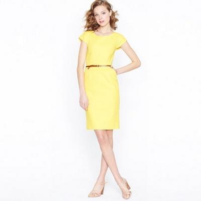 офисное платье цвета канарейки