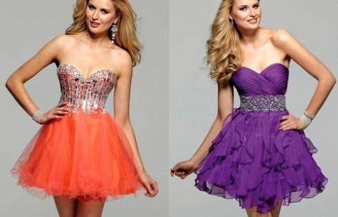 короткое выпускное платье 2013