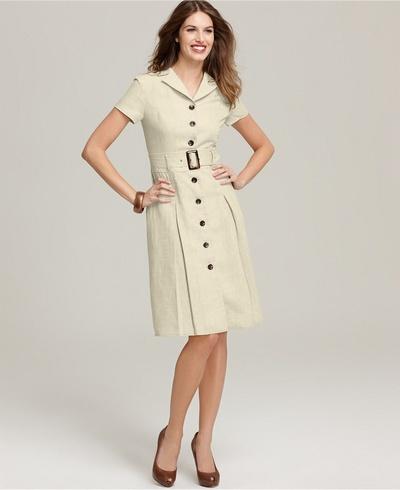 платье-халат для офиса летом
