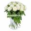 Букет из 25 белых роз  Лунный свет