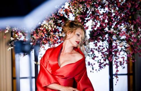 Ума Турман на фото календаря Campari 2014