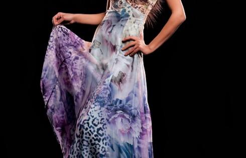 цветное выпускное платье 2013