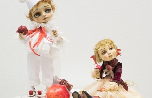 авторские куклы в стиле ретро