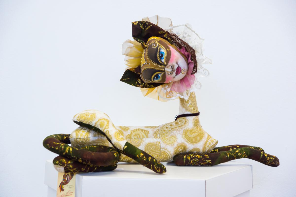 авторская кукла - кошка