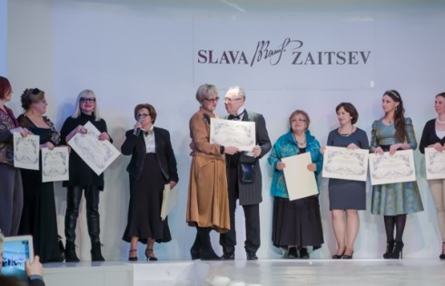 вручение дипломов на модном показе