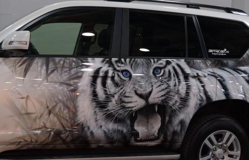 аэрография  - тигр