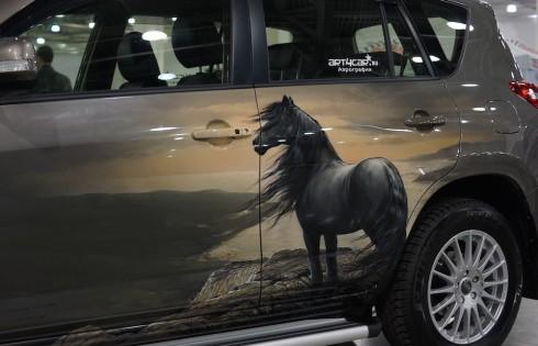 аэрография лошадей