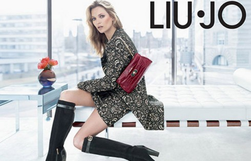 Кейт Мосс для Liu Jo презентация одежды осень-зима 2013-2014