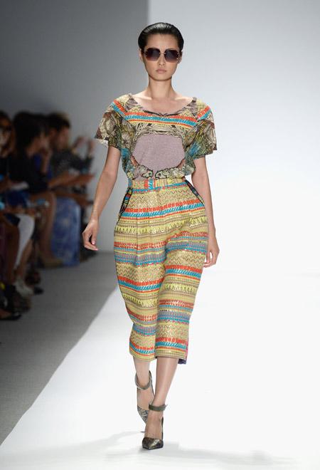 платье в стиле этника весна 2014
