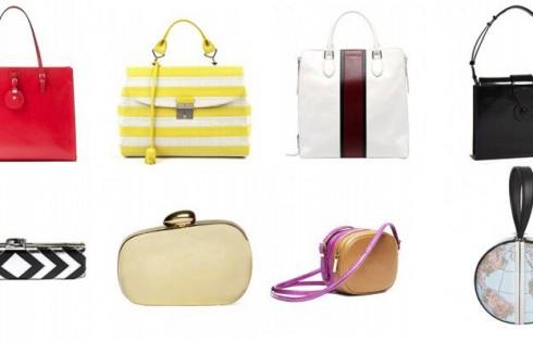 женские сумки с геометрическими линиями
