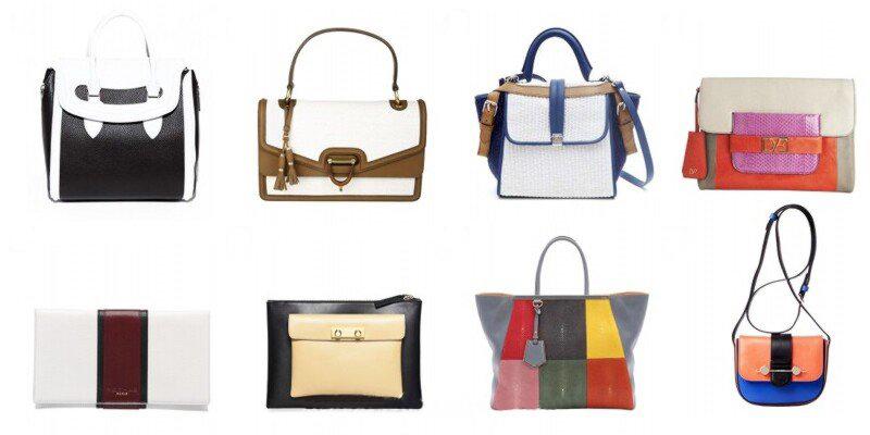 многоцветные сумки женские