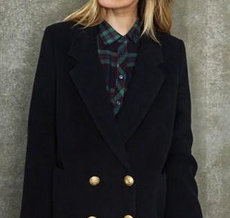 черное классическое демисезонное пальто