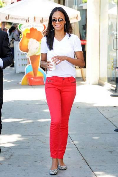 летние красные женские брюки