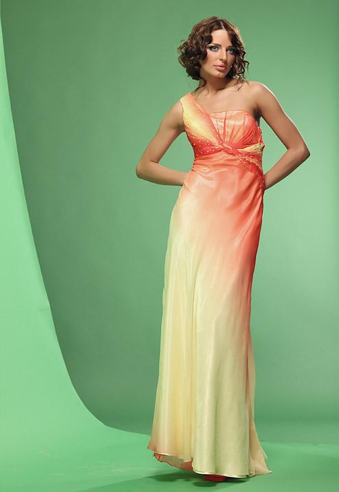 платье с градиентом цвета на выпускной