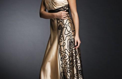 золотое платье на выпускной 2013