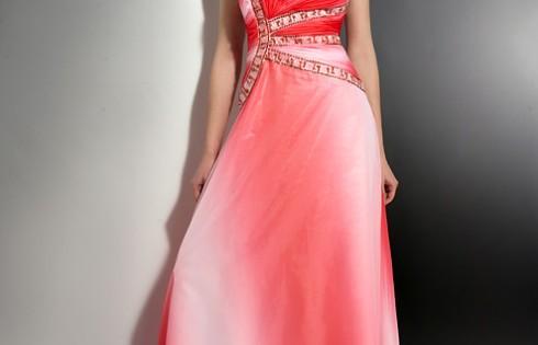 градиентное выпускное платье 2013