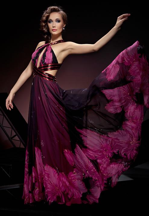 роскошное длинное платье на выпускной