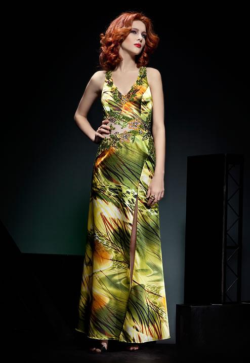 цветное платье на выпускной