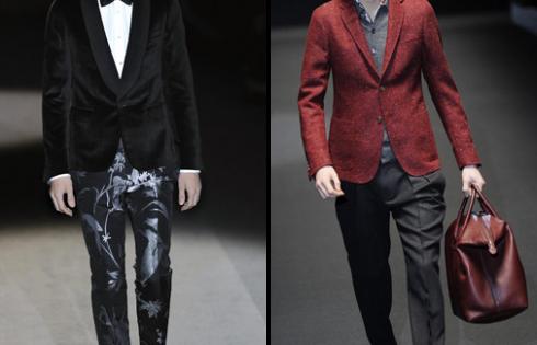 черный пиджак и брюки с принтом для мужчин от gucci 2013