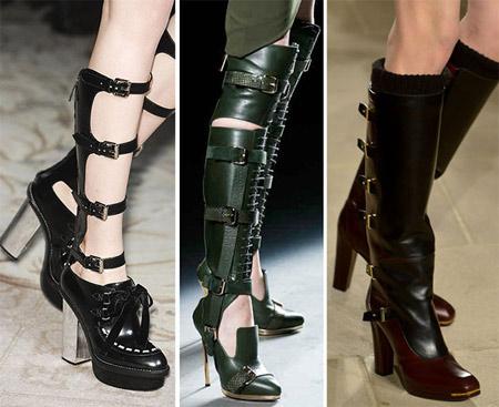 модная обувь с пряжками