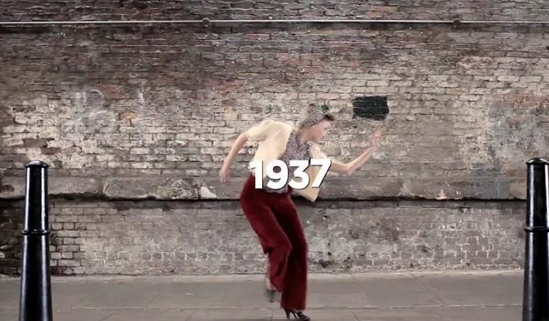 Вся история английской моды за 100 лет в 2-х минутном ролике