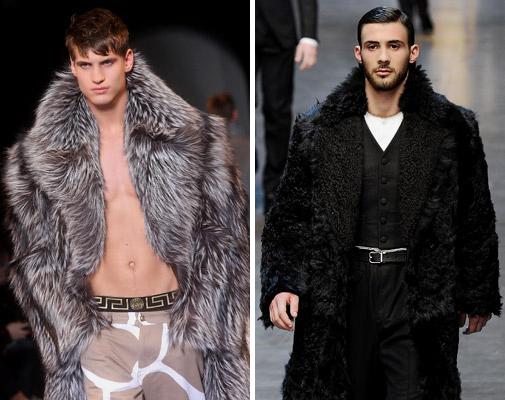 меховые мужские пальто и куртки
