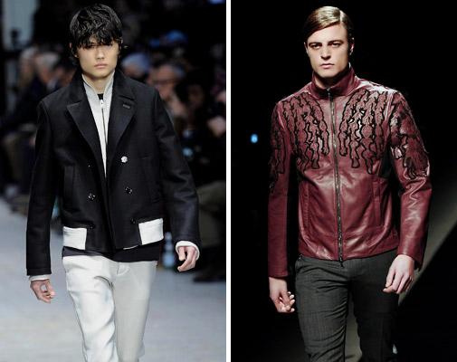 модные черные и коричневые куртки
