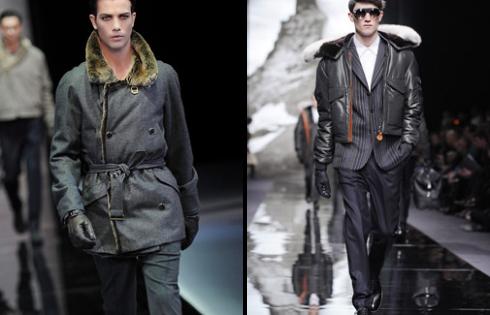 мужские парки и куртки с меховым воротником