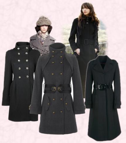 осенне пальто военного кроя