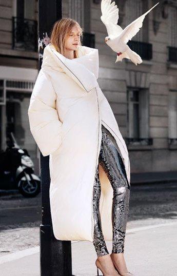 молодежное осеннее пальто-одеяло