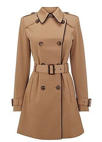 женское демисезонное пальто с поясом