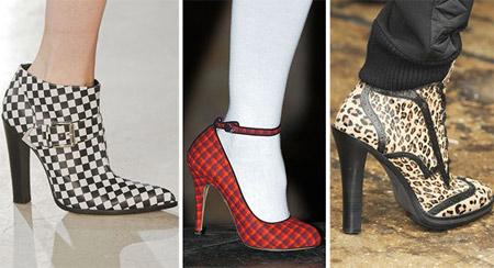 женская обувь с печатным рисунком
