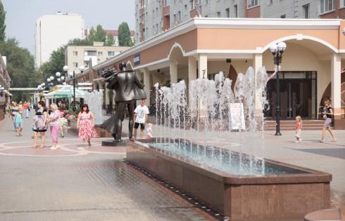 фонтаны на Аллее Роз