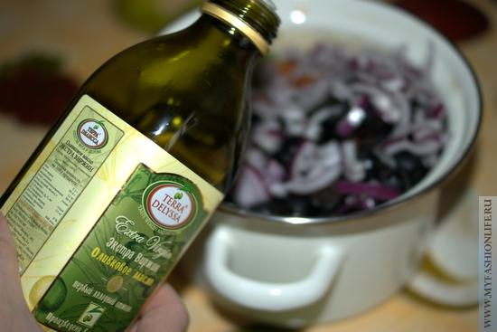 заправляем оливковым маслом