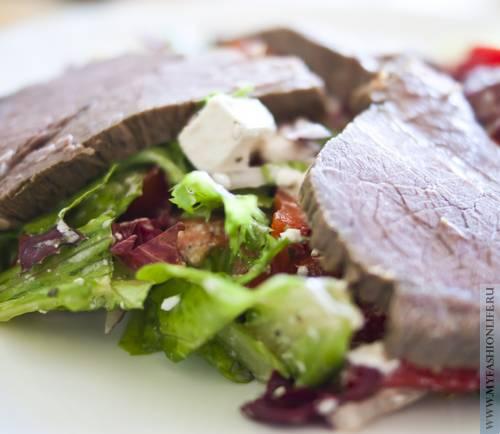 рецепт салат южный с мясом