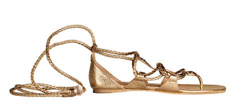 кожаные сандалии Hermes