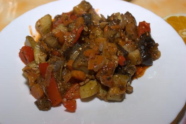 Соте из баклажанов и кабачков — быстрый рецепт