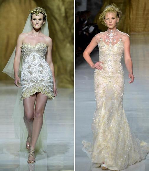 свадебные платья с золотыми элементами 2014