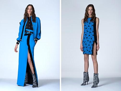 синее платье от Emanuel Ungaro коллекция 2014