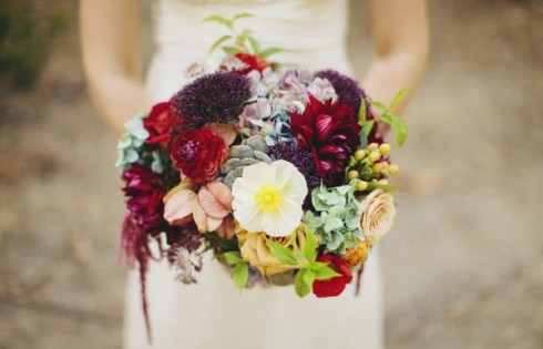 букет невесты в стиле кантри