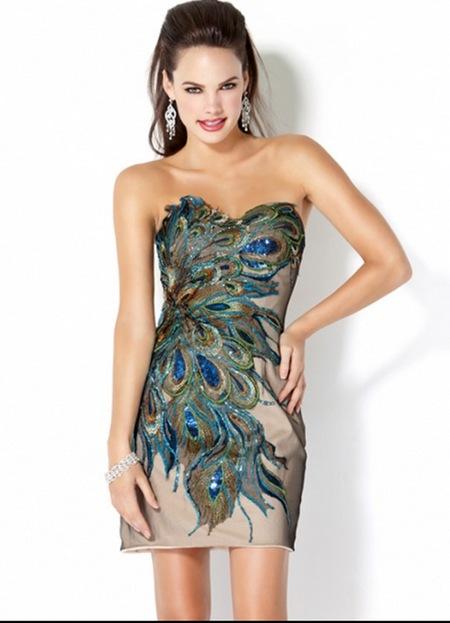 выпускное платье с принтом