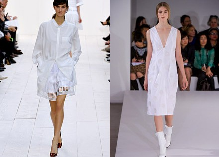 белый цвет в коллекциях Chloe и Jil Sander